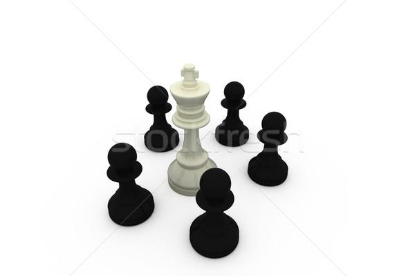 Blanco rey negro ajedrez digital estrategia Foto stock © wavebreak_media