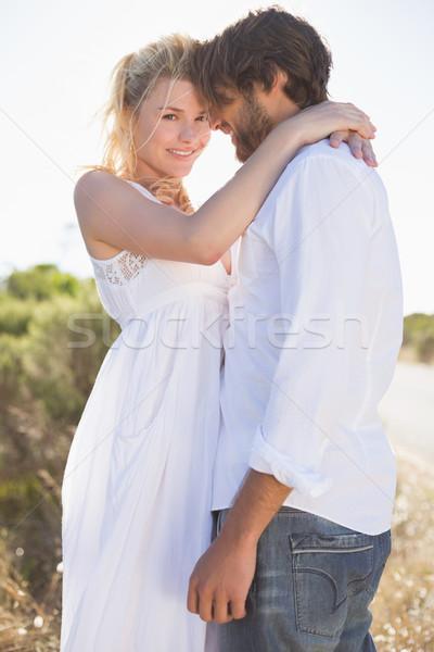 Vonzó pár átkarol út napos idő boldog Stock fotó © wavebreak_media