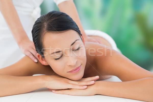 Bella bruna spalla massaggio lusso Foto d'archivio © wavebreak_media