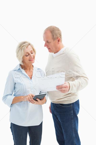 зрелый пару белый счастливым Сток-фото © wavebreak_media