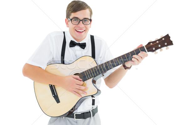 играет гитаре пения белый счастливым Сток-фото © wavebreak_media