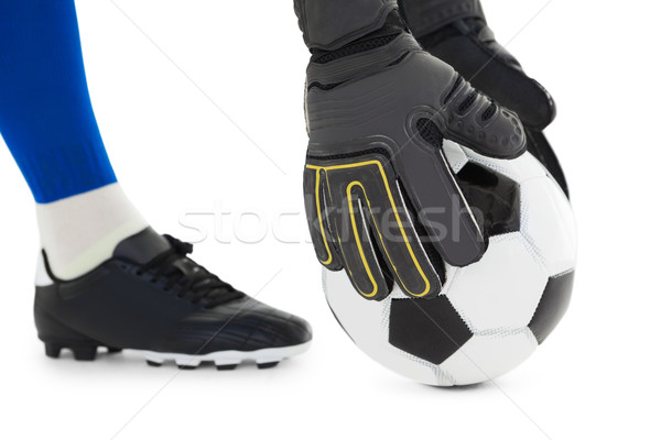 вратарь вверх мяча белый Футбол Сток-фото © wavebreak_media