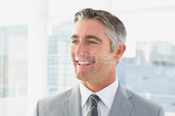 Empresário sorridente escritório negócio sorrir trabalhar Foto stock © wavebreak_media