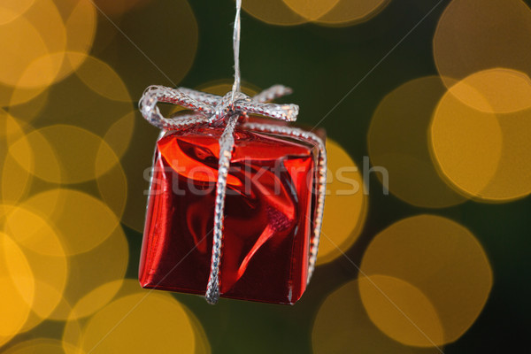 赤 クリスマス ギフト 装飾 絞首刑 ぼやけた ストックフォト © wavebreak_media