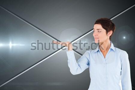 üzletember telefon néz karóra fehér boldog Stock fotó © wavebreak_media