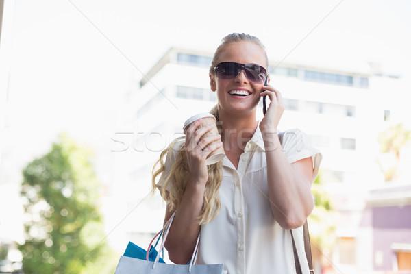 Attractive blonde on a shopping trip Stock photo © wavebreak_media