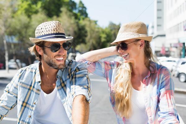 привлекательный счастливым пару Солнцезащитные очки Сток-фото © wavebreak_media