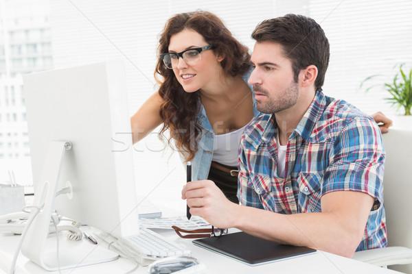 Business people using computer and digitizer Stock photo © wavebreak_media