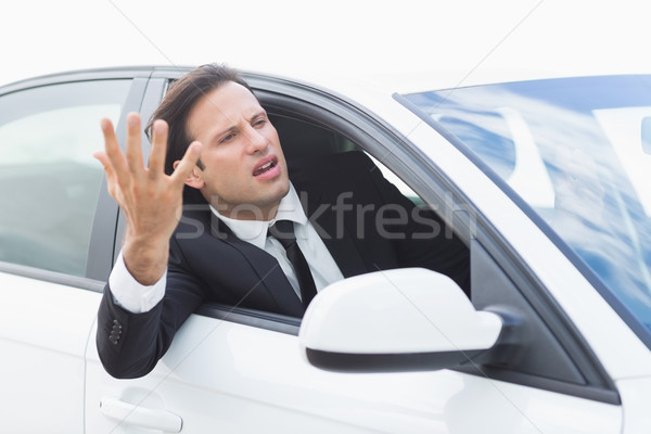 Businessman experiencing road rage Stock photo © wavebreak_media