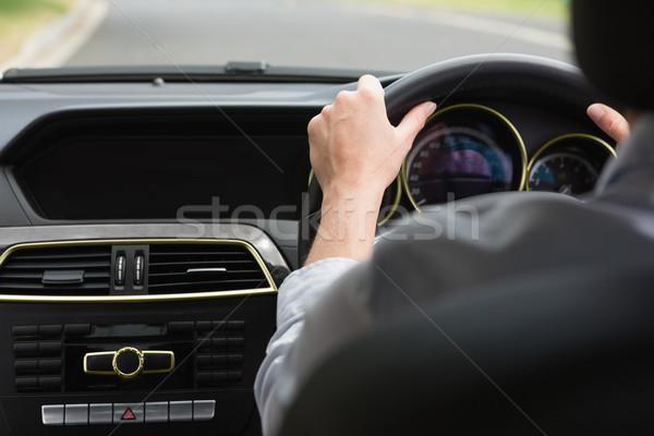 деловая женщина сидят сиденье автомобилей женщину костюм Сток-фото © wavebreak_media