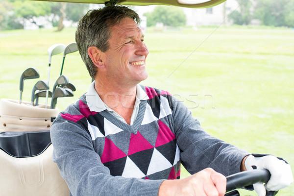 Boldog golfozó vezetés golf napos idő golfpálya Stock fotó © wavebreak_media