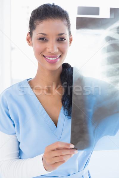 Gülen doktor xray tıbbi ofis hastane Stok fotoğraf © wavebreak_media