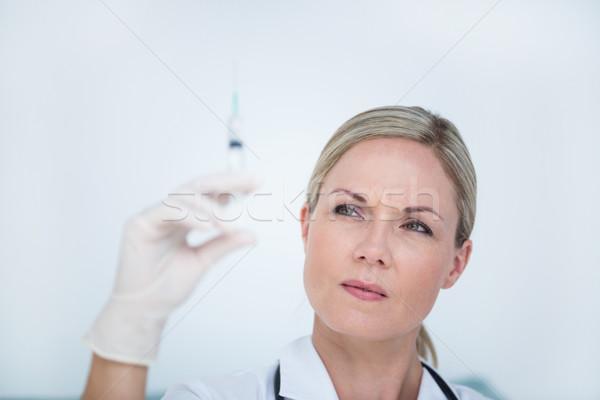Doktor şırınga tıbbi ofis kadın sağlık Stok fotoğraf © wavebreak_media