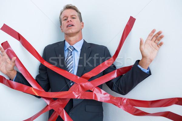 Zakenman gevangen bureaucratie witte business man Stockfoto © wavebreak_media