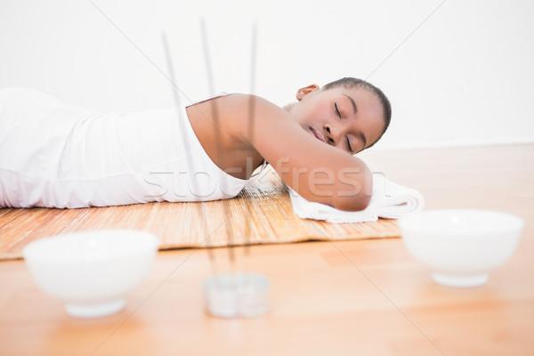 Pacífico mujer bonita bambú spa mujer sonrisa Foto stock © wavebreak_media