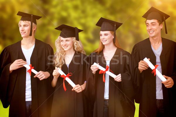 Görüntü grup insanlar mezuniyet ağaçlar Stok fotoğraf © wavebreak_media