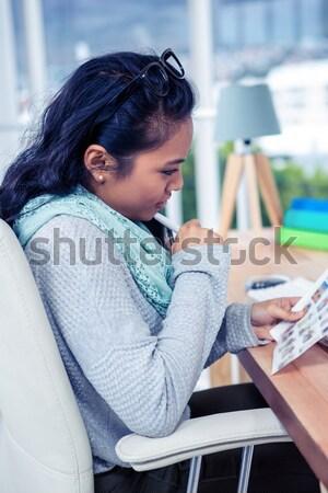 Depressed patient lying on couch Stock photo © wavebreak_media