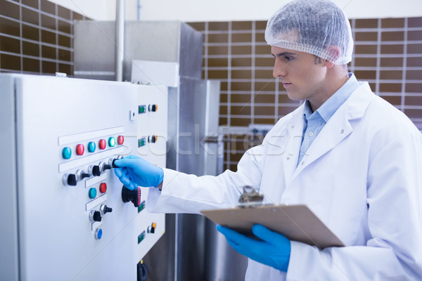 Gericht bioloog machine fabriek groene industrie Stockfoto © wavebreak_media