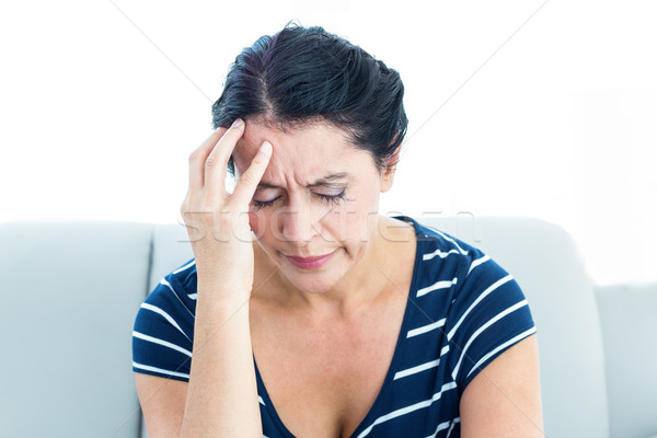 Woman having migraine Stock photo © wavebreak_media