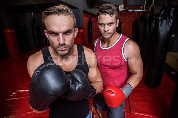 ボクシング 男性 見える カメラ 肖像 フィットネス ストックフォト © wavebreak_media