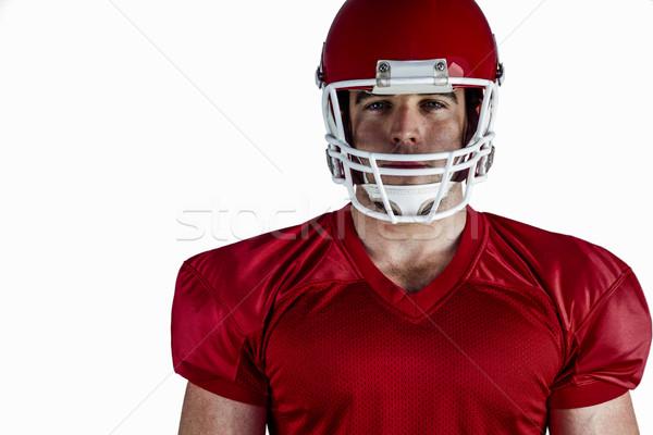 Amerikaanse voetballer naar camera witte sport Stockfoto © wavebreak_media