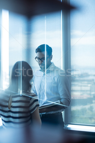 Business couple reading diary in office Stock photo © wavebreak_media