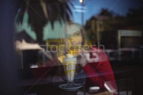 女性 ビジネス ウィンドウ レストラン 代 ストックフォト © wavebreak_media