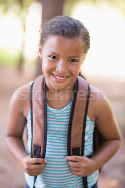 Portrait of happy girl with backpack Stock photo © wavebreak_media