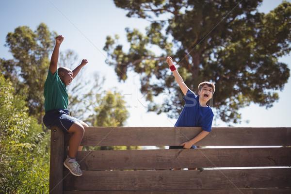 дети стены загрузка Сток-фото © wavebreak_media