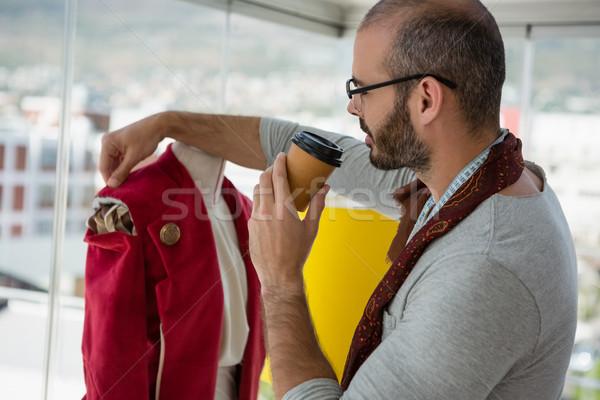дизайнера куртка питьевой кофе семинар Сток-фото © wavebreak_media