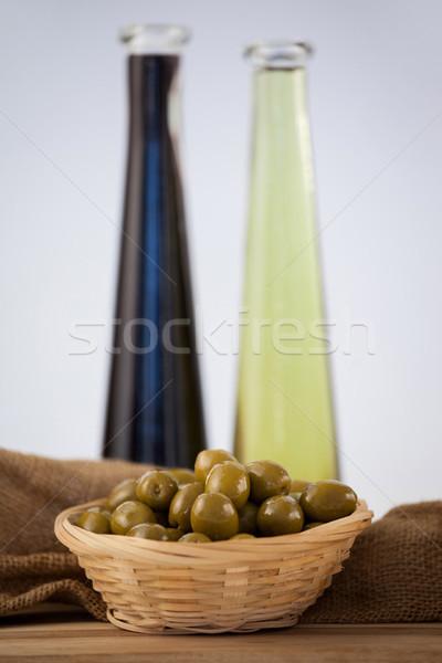Photo stock: Vert · olives · osier · panier · pétrolières