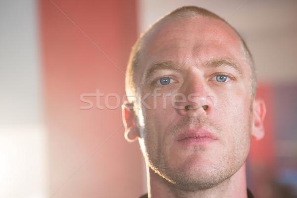 Portre erkek boksör uygunluk spor salonu adam Stok fotoğraf © wavebreak_media