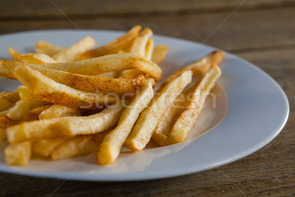 French fried chips in plate Stock photo © wavebreak_media