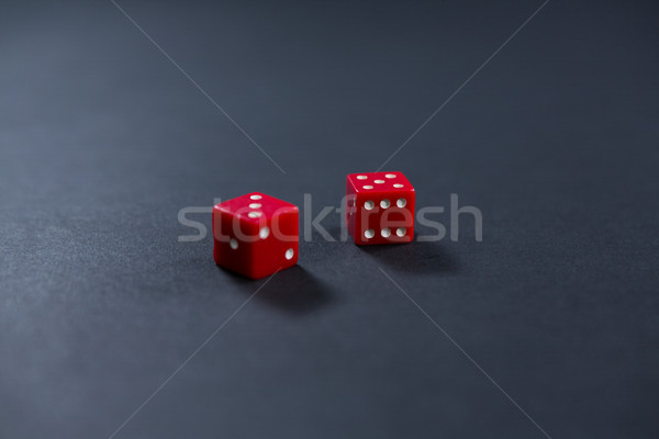 Close-up of red dices Stock photo © wavebreak_media