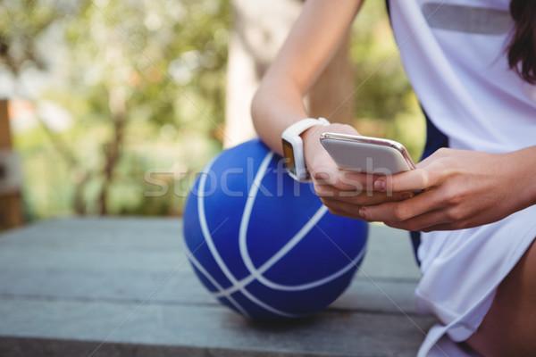 Kobieta koszykówki dziewczyna czerwony Zdjęcia stock © wavebreak_media