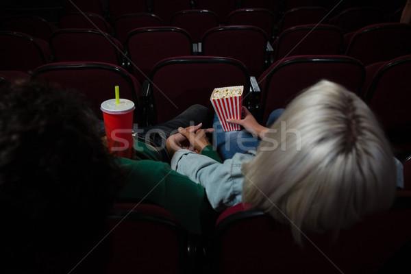 後視圖 情侶 爆米花 觀看 電影 劇院 商業照片 © wavebreak_media