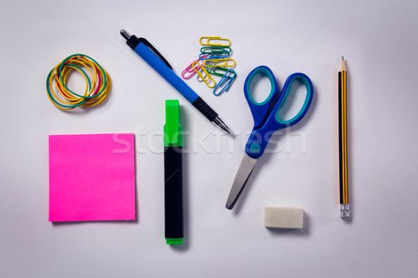 Artigos de papelaria branco escritório caneta Foto stock © wavebreak_media
