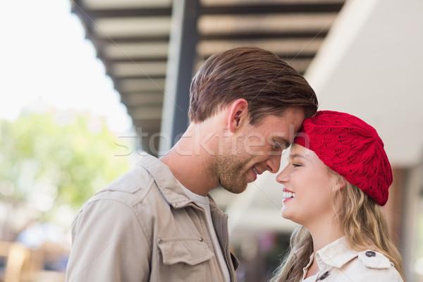 Mutlu çift gülen alışveriş merkezi kadın moda Stok fotoğraf © wavebreak_media