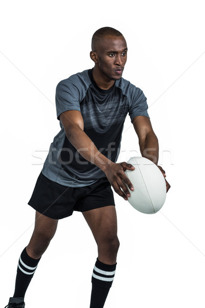 Rugby joueur poste balle blanche Photo stock © wavebreak_media