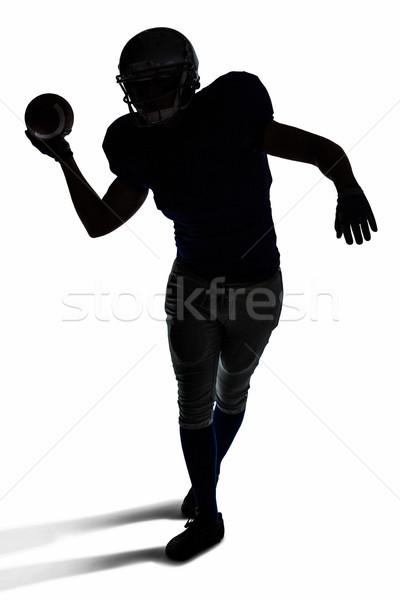 Americano futbolista pelota silueta blanco Foto stock © wavebreak_media