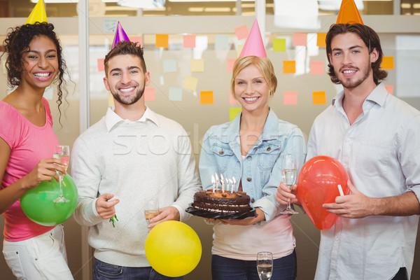 портрет коллеги празднование дня рождения Creative служба Сток-фото © wavebreak_media