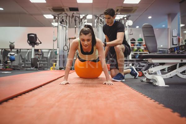 フィット 女性 トレーナー ジム スポーツ ストックフォト © wavebreak_media