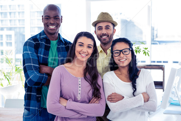 Portrait of multi ethnic business people with arms crossed Stock photo © wavebreak_media