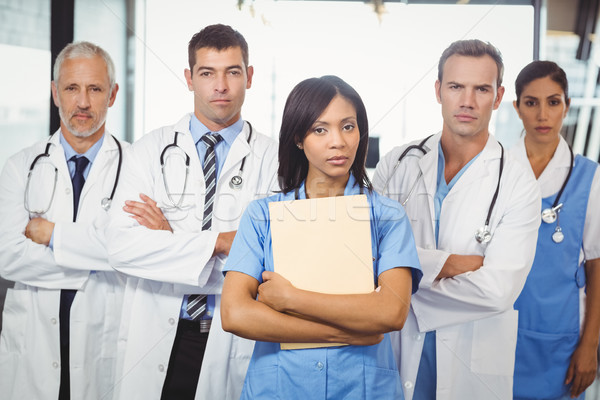 Portrait of medical team standing together Stock photo © wavebreak_media