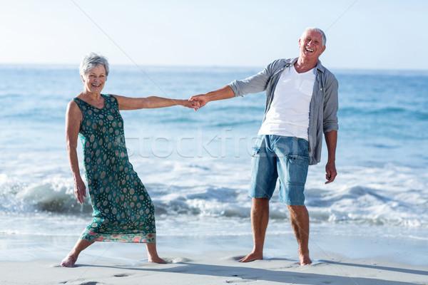 Senior couple holding hands Stock photo © wavebreak_media