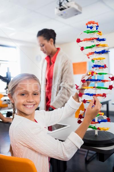 çocuk poz oluşturma okul mutlu öğretmen Stok fotoğraf © wavebreak_media