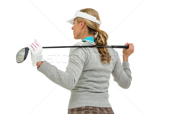 Golf club blanche femme Photo stock © wavebreak_media