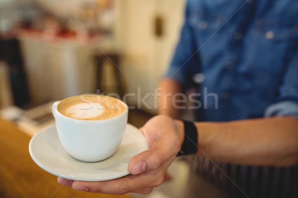 Vers koffie geserveerd barista cafe Stockfoto © wavebreak_media