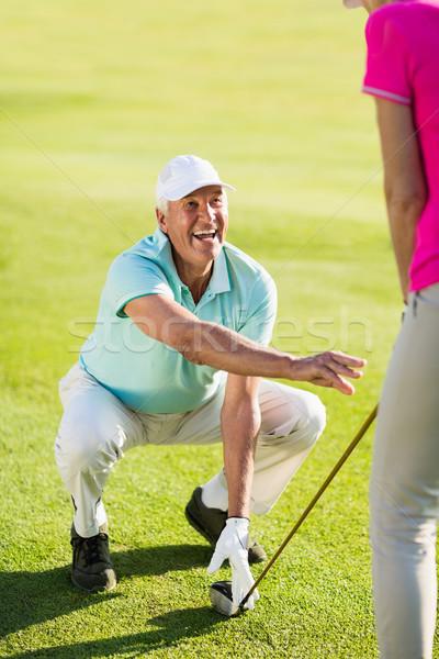 Sorridere maturo golfista uomo insegnamento Foto d'archivio © wavebreak_media