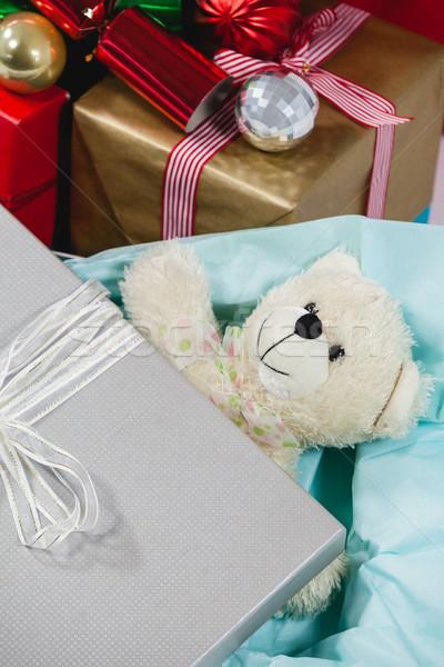 Christmas przedstawia miękkie zabawki dekoracji Zdjęcia stock © wavebreak_media